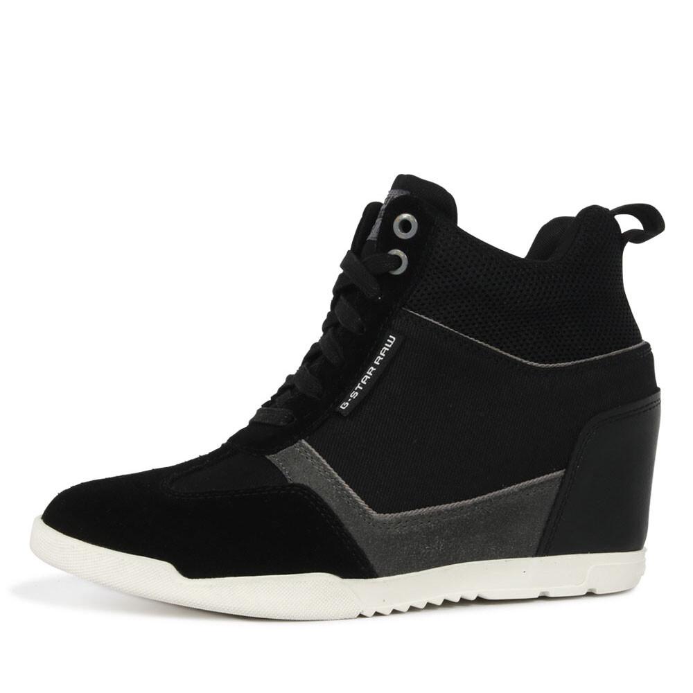 G-Star boxxa wedge sneaker zwart