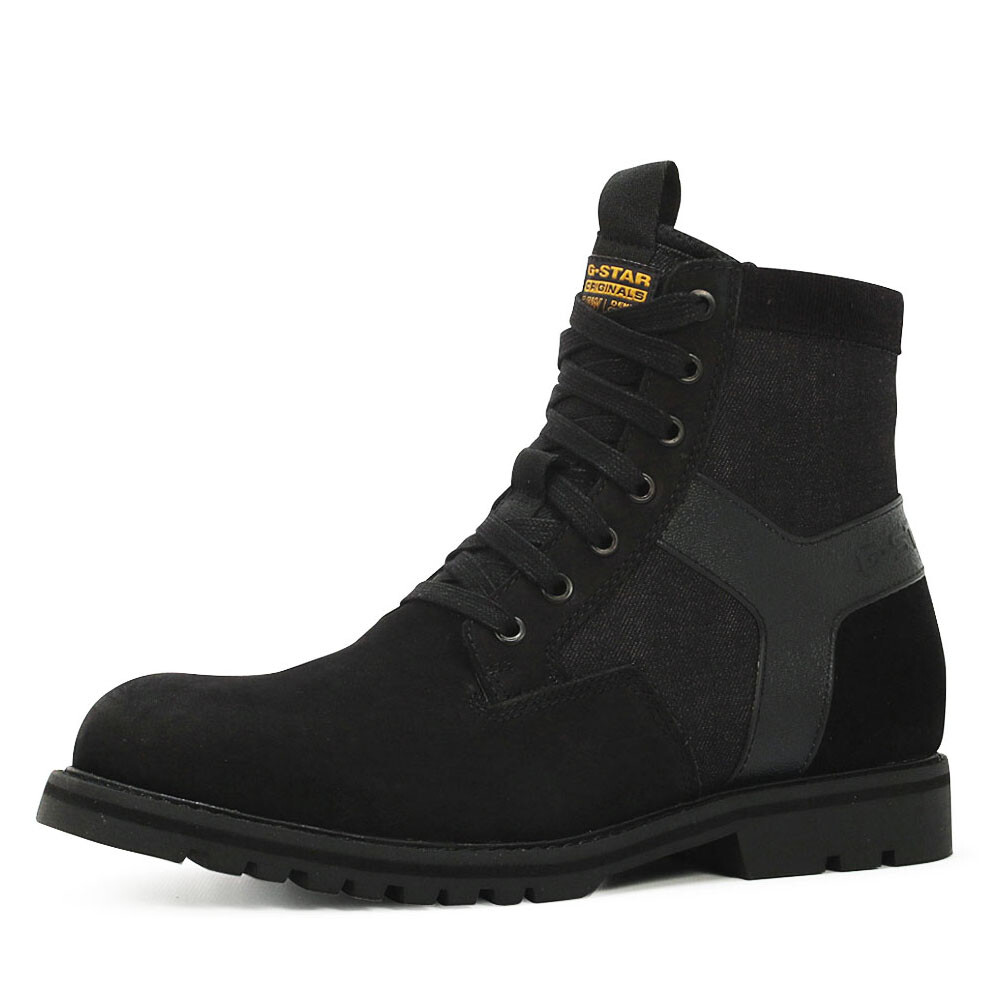 G-Star powell y veterboots zwart