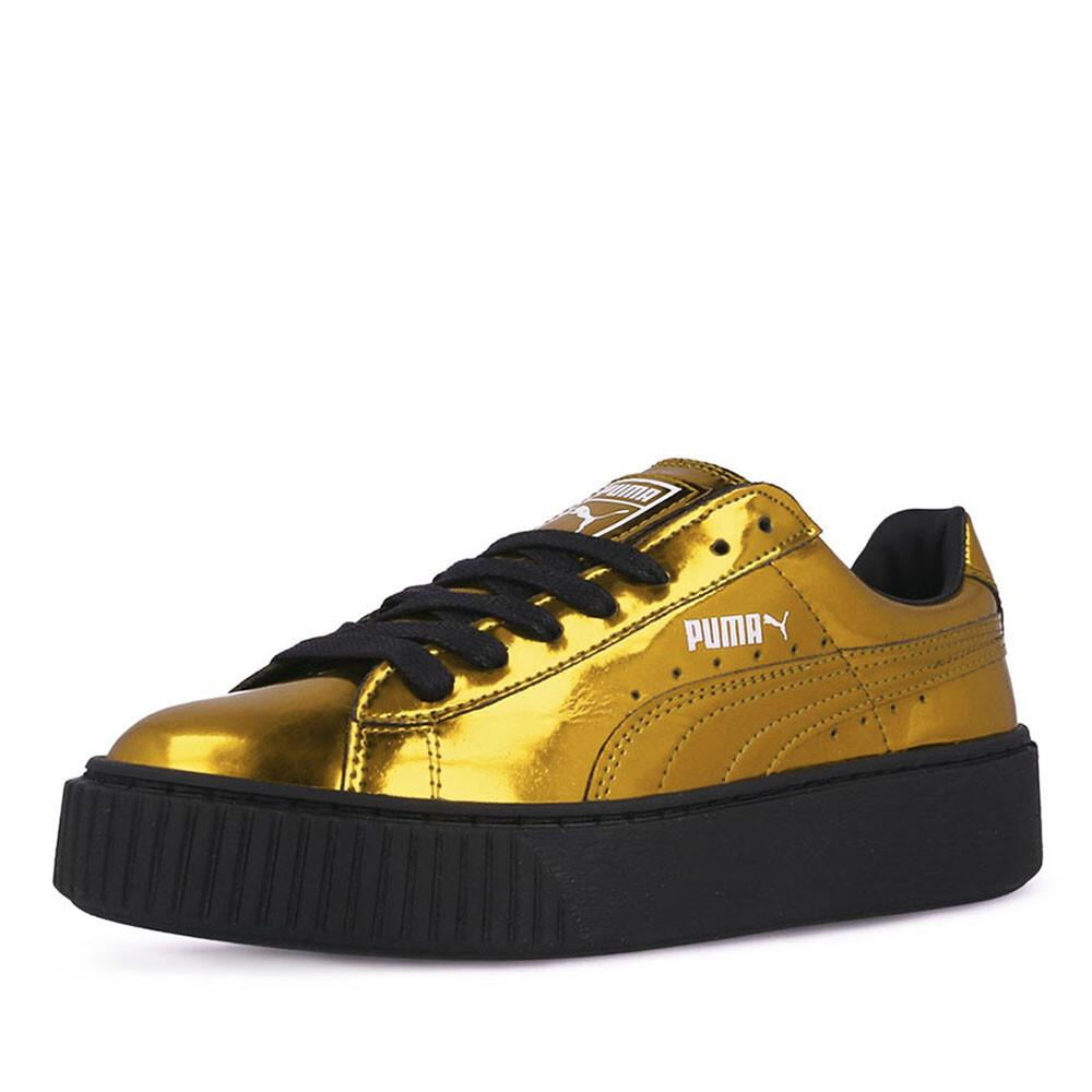 puma basket platform sneaker goud