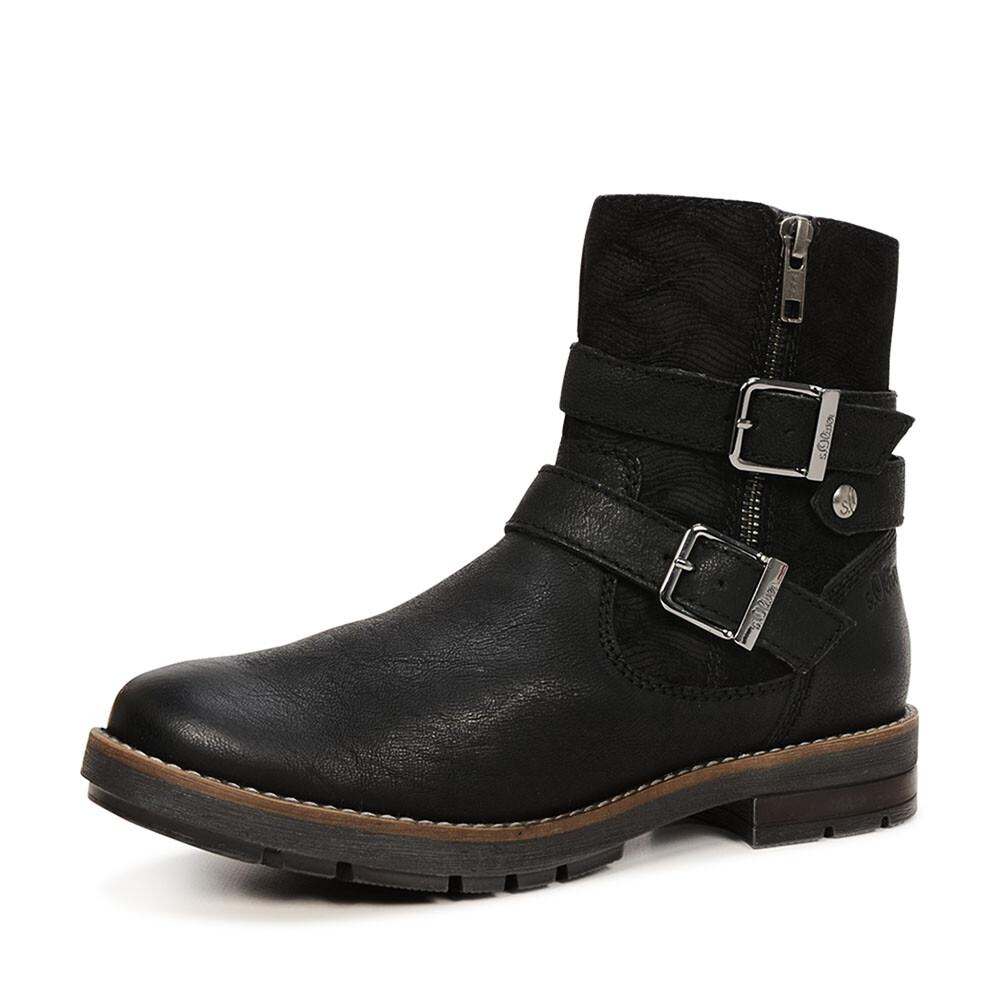 s Oliver biker boots met gespen
