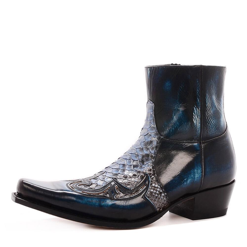 Sendra 9918 blauwe  laarzen