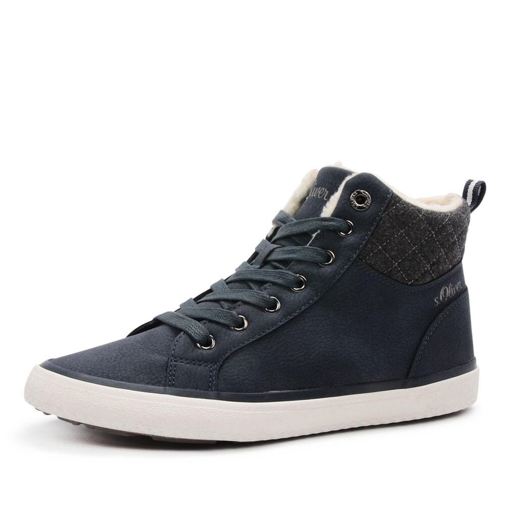 s Oliver hoge blauwe sneakers
