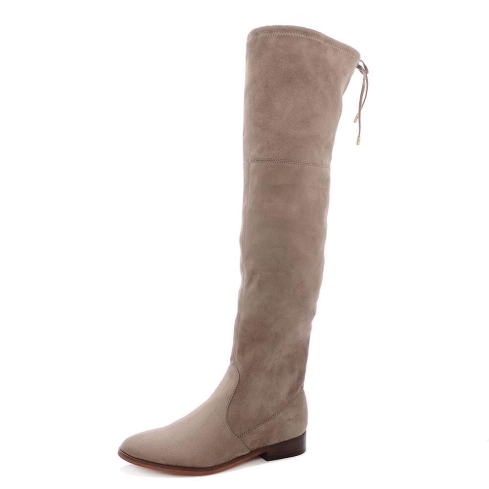 SPM an overknee laarzen taupe