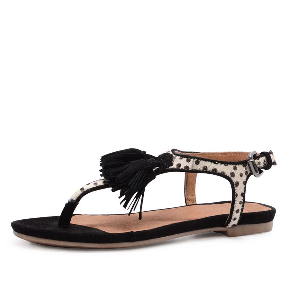 Trendy spm sandalen, model 'nantes sandal black' art. 40496634. de sandaal is gemaakt van zwart suède leer en ...