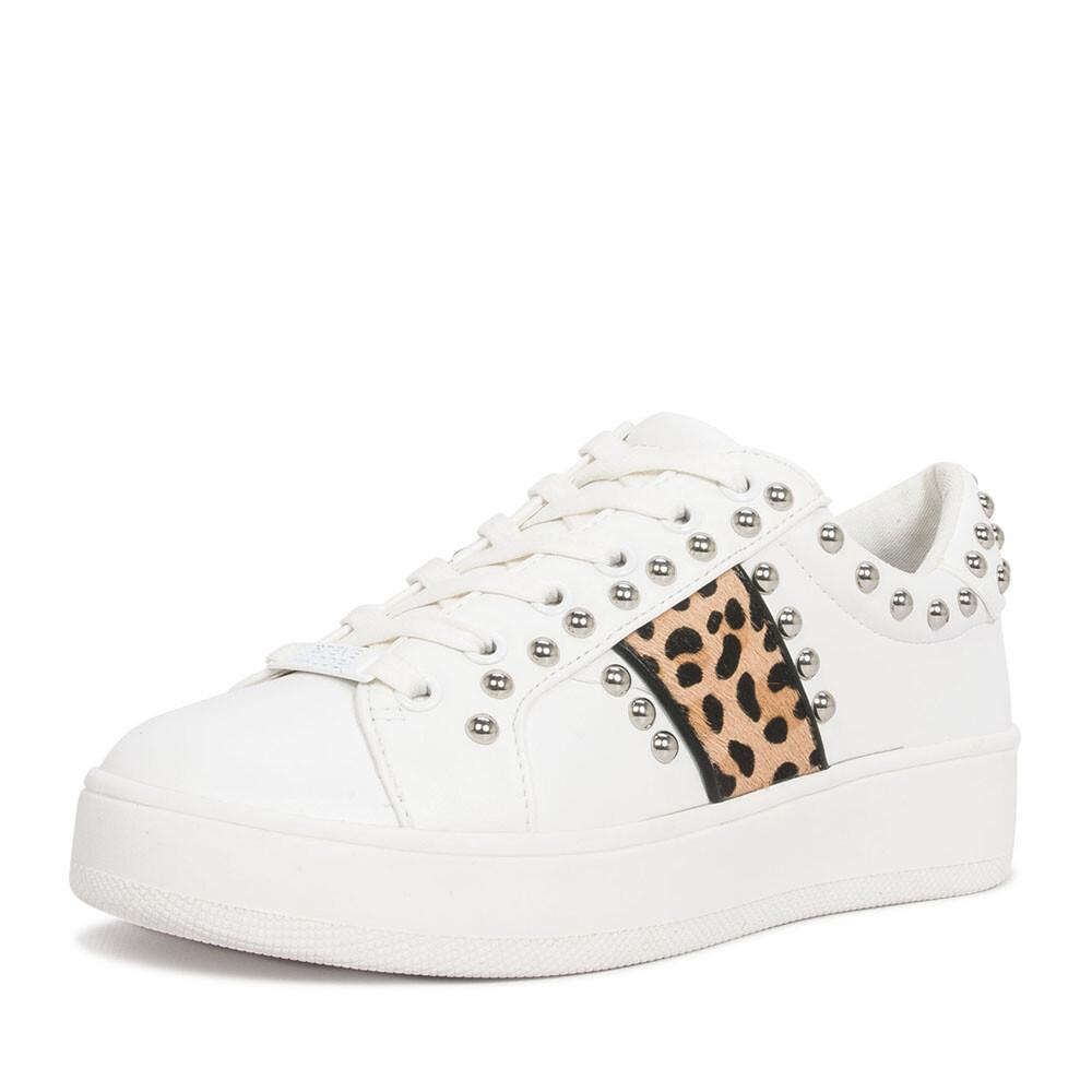 Schoenenwinkel, Steve Madden belle sneaker wit leopard